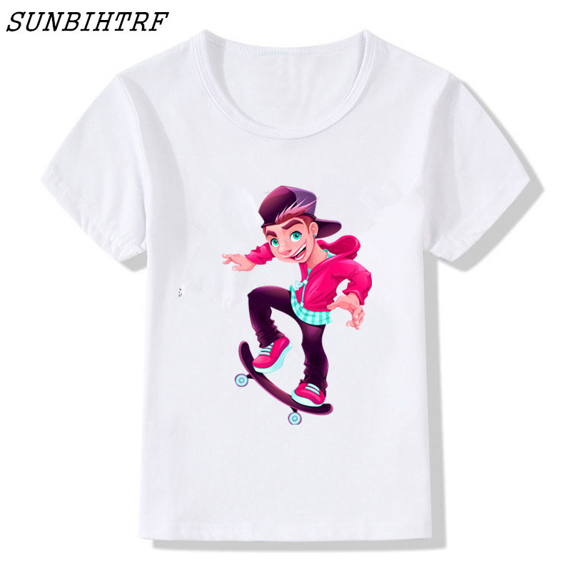 Buy Cheap 2018 Kids T-shirt Extreme Sports Skateboard Cotton Children Short T Shirts For Boy And Girl Tops Baby Clothing Child Shirt Tees Making Things Convenient For The People