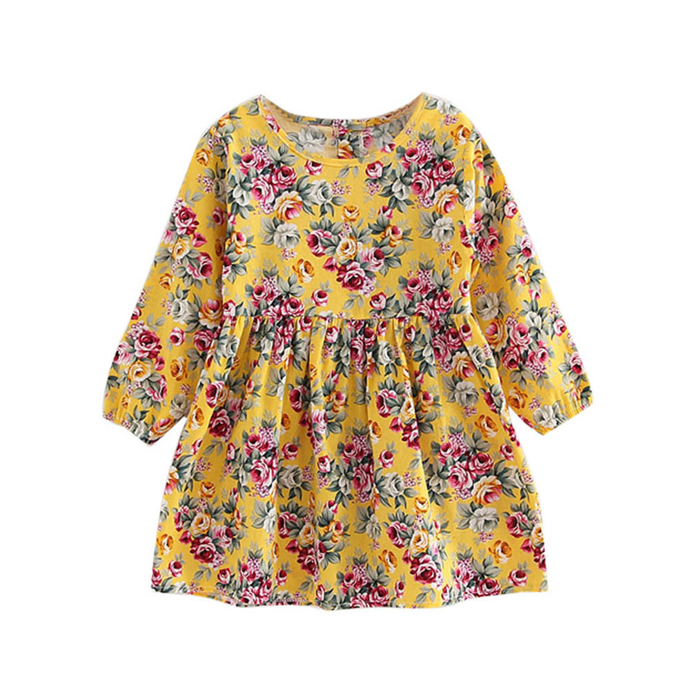 Toddler Baby Girls Dress Long Sleeve Princess Party Pageant Dresses Kids Clothes Oct 25 2017 cute children girls cotton dress long sleeve print tutu party dresses toddler kids clothes outfits 1 5y