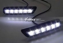 Front bumper Replace LED DRL for MITSUBISHI OUTLANDER SPORT RVR ASX 2010 - 2012 chrome door side molding for mitsubishi asx rvr outlander sport 2010 2011 2012 2013