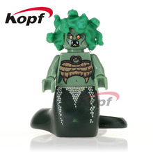 Single Sale Super Heroes Medusa Chicken Suit Statue of Liberty Inhumans Royal Family Building Blocks Toys for children PG1026(China)