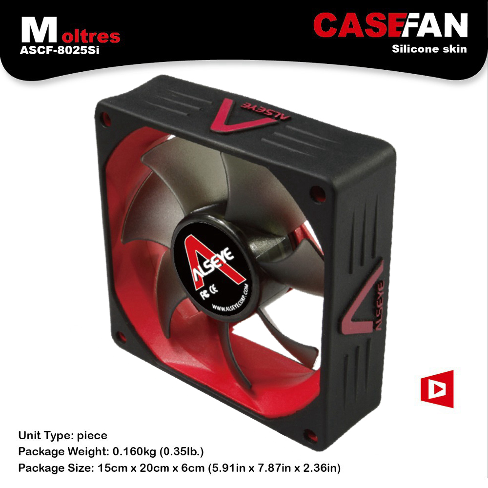 ALSEYE Cooler 80mm Case Fan for Computer DC 12V 3Pin 2000RPM Cooling Fan with Silicone Skin Ultra-quite цена и фото