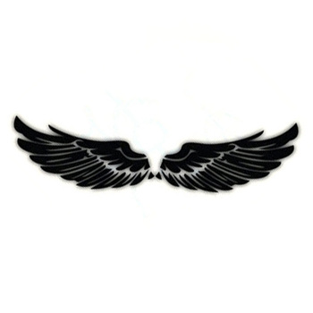 40CM Angel Rear Wing Modified Car Stickers Wings Reflective Material Body Sticker Decals Black Silver CT-754 180sx led ヘッド ライト