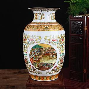 Image 4 - Керамическая ваза под старину Цзиндэчжэнь, китайские фарфоровые вазы