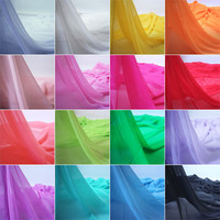 Free Shipping Needlework 1 5 Meters Width Chiffon Fabric Solid Color Cloth 5 Meters Lot Webbing