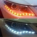 2016new estilo lágrimas luz âmbar flexível farol LED Stripe luz de circulação diurna DRL luz decorativa com a volta de luz