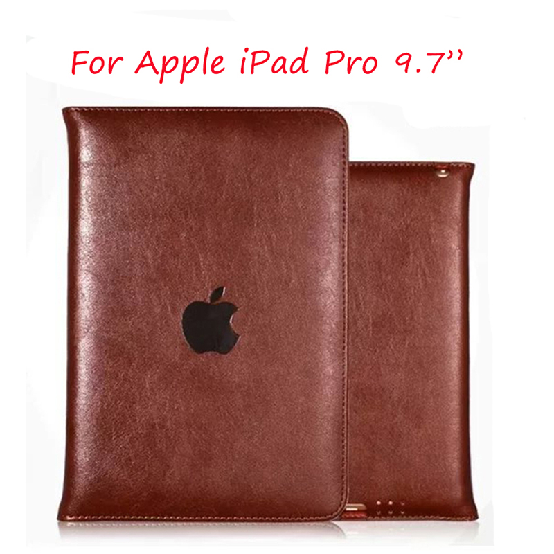 Multifunctional Luxury Folio Stand PU Flip Grain Leather Case Cover With Stand Function For Apple iPad Pro 9.7 Tablet multifunctional luxury flip stand case