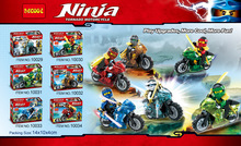 Decool 10029-10034 Ninja Motor Vehicle Series Tornado Motorcycle Minifigures Building Best Toys