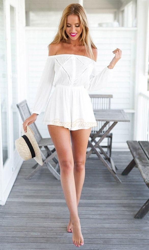 072c6c84dfd US $12.88 |Elegant Jumpsuit white Slash Neck female overalls Chiffon  Jumpsuit Off shoulder Long Sleeve rompers womens jumpsuit 31 on  Aliexpress.com | ...