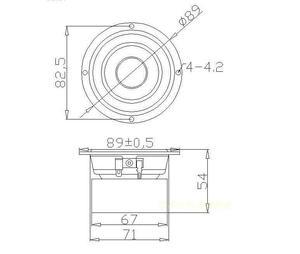 Image 4 - Um par de 3 polegadas 4 ohm 15w alto falante de alcance total, subwoofer, caixa de som hi fi