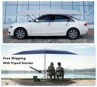 Бесплатная доставка Автоматическая автомобиль зонтик солнечное укрытие приставная палатка для автомобиля с удаленным Управление и открыт