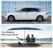 Free Shipping Automatic Car umbrella sun shelter Outdoor car tent with Remote Control and tripod-stand