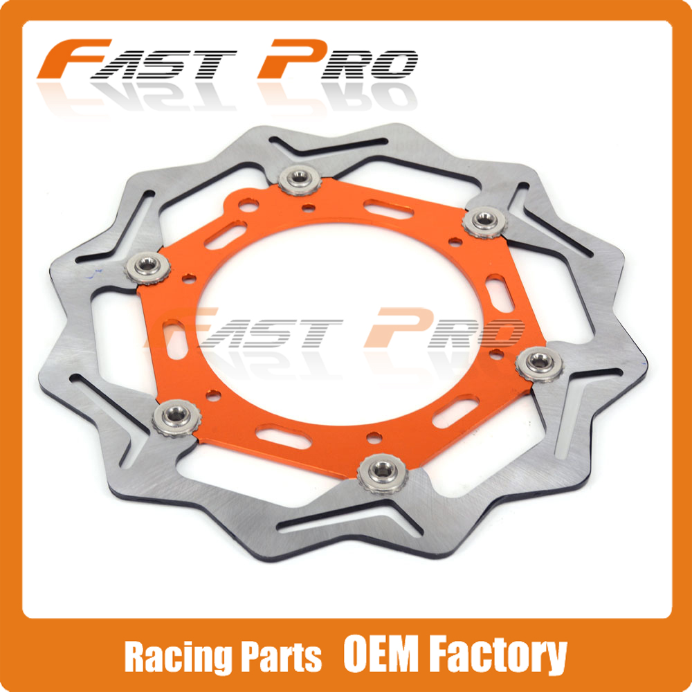 270MM Front Floating Brake Disc Rotor For KTM EXC SX SX-F XCW XCF SXS XC MXC LC4 125 144 150 200 250 350 450 520 525 640 620 400 orange cnc billet factory oil filter cover for ktm sx exc xc f xcf w 250 400 450 520 525 540 950 990