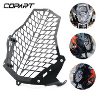 Front Lamp Headlight Grille Guard Protector Cover CNC Aluminum For KTM 1290 1190 1090 1050 Super Adventure Head Lamp Guard