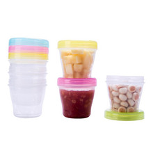 Baby Food Storage 150ml baby travel Sealed jar 4colors  dispenser storage food milk container 2pcs 40% off