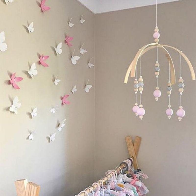 Windspiele Holz Perlen Windspiele Fotografie Requisiten Kinder Baby Krippe Mobilen Raum Dekorationen