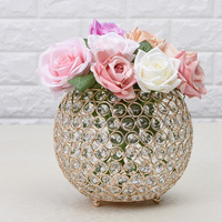 Glass Display Vases Crystal Bowl Tealight Candle Holders for Home Modern European Decoration Table Centerpieces Stand