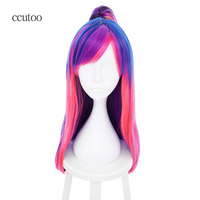 ccutoo 60cm My Little Pony Twilight Sparkle Straight Synthetic Hair Cosplay Wig with Clip Ponytail