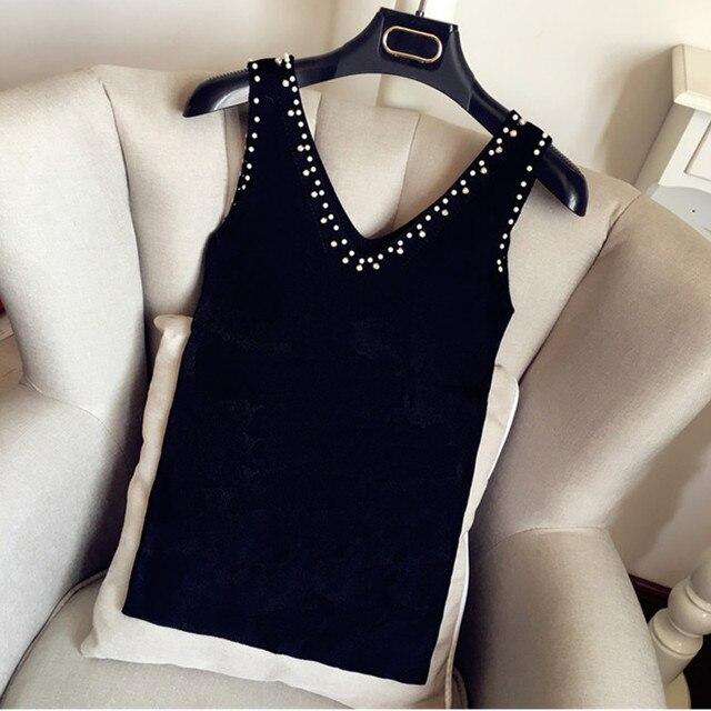 UHYTGF2018 Fashion Summer Women Sweater Diamond Sleeveless Knitted Camis Slim Halter Neck Sexy Strapless Sweaters Women Vest 319 4