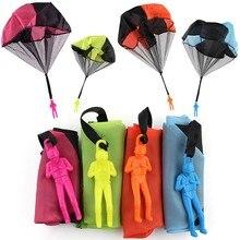 Mini juguete de paracaídas para niños para lanzar a mano, soldado, deportes al aire libre, juguetes educativos para niños, envío gratis