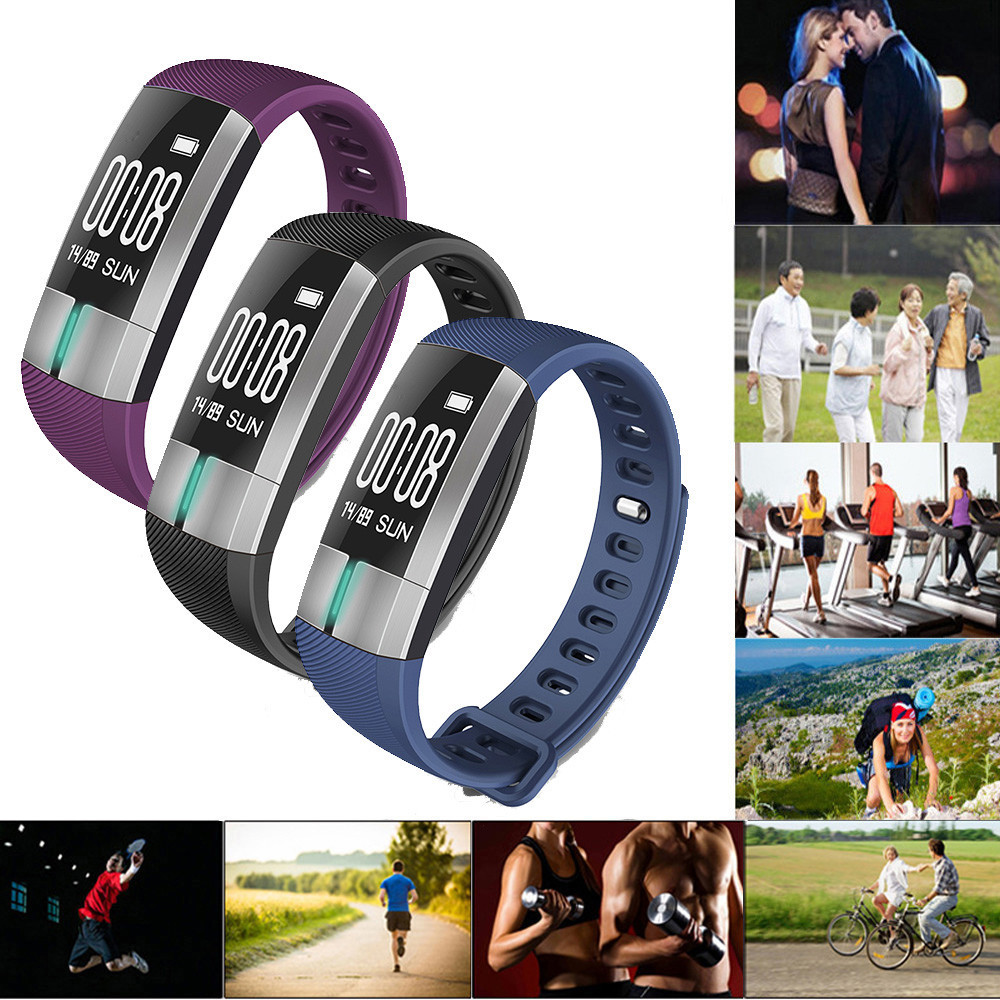 Wrist-Watch Heart-Rate Blood-Pressure Bluetooth Android Smart Date Monitor ECG for IOS