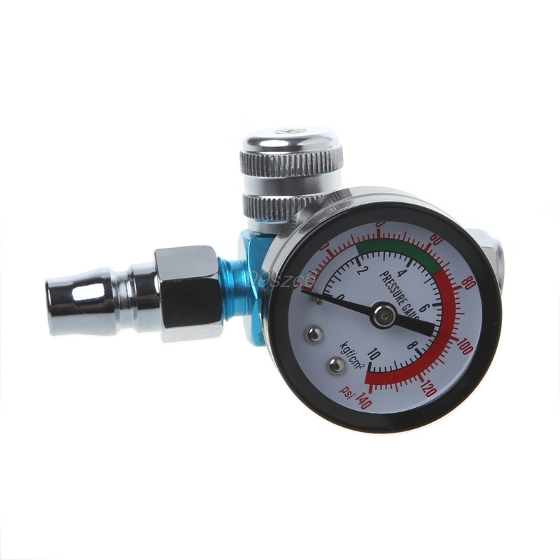 Mini Lightweight BSP HVLP Spray Gun Air Regulator Tool Pressure Gauge Diaphragm Control For Sprayguns And Air Tools Oct12