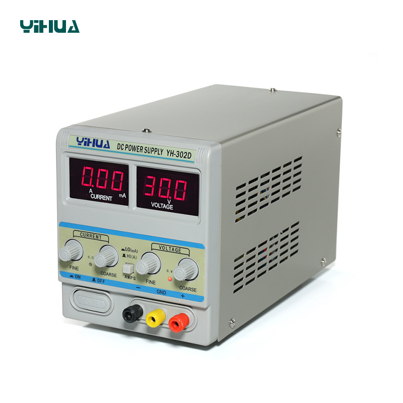 YIHUA 302D DC Power Supply Adjustable Ann And mA Current Conversion Regulator DC Power Supply 30V 2A rps3020d 2 digital dc power adjustable power 30v 20a power supply linear power notebook maintenance