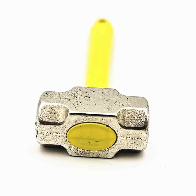 1:10 Mini çekiç Metal ölçekli kürek ve çekiç pratik el aracı RC tırmanma kamyon araba oyuncak dekorasyon (sarı)