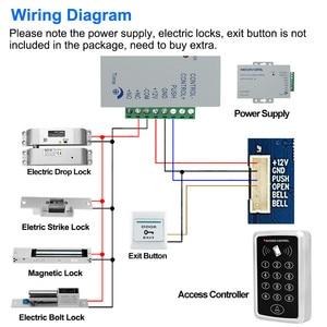 Image 5 - Waterproof RFID Access Control Keypad Outdoor Rainproof Cover 125KHz EM Card Reader 10pcs Keyfobs For Door Access Control System