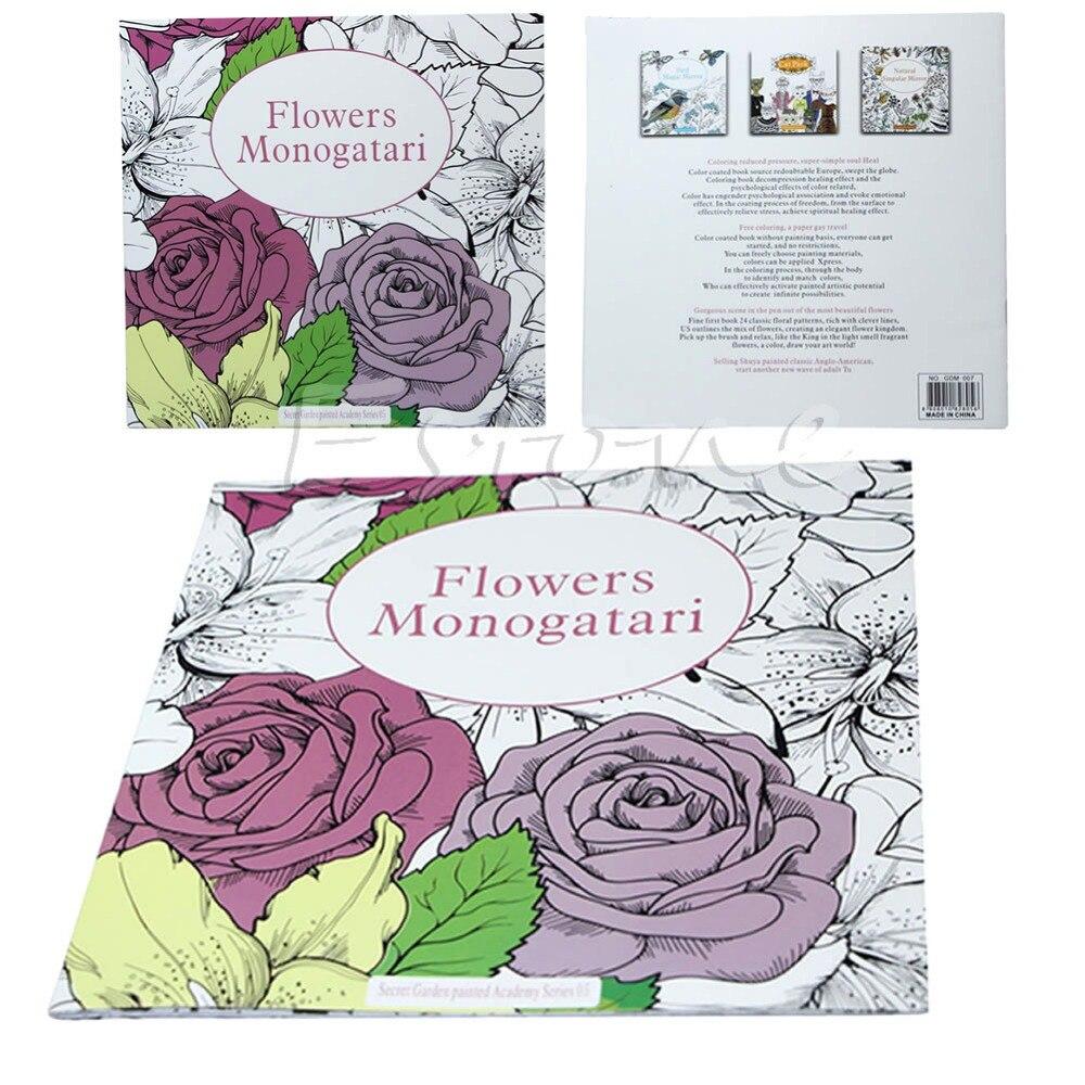 Graffiti Coloring Book SECRET GARDEN Flowers Monogatari For Adults Kids Gift In Books From Office School Supplies On Aliexpress