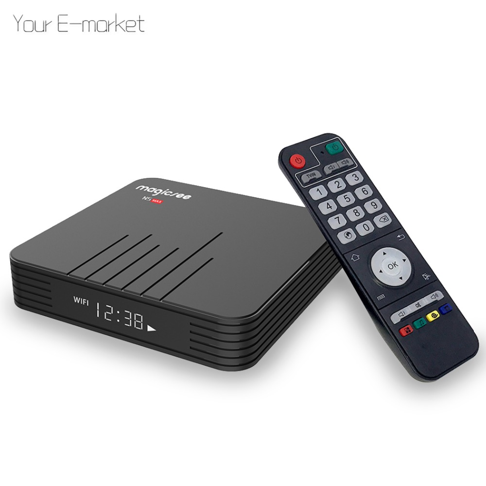 MAGICSEE N5 MAX Android TV Box Amlogic S905X Android 8.1 4GB RAM 32GB 64GB ROM 2.4G + 5G WiFi 1000Mbps BT4.1 4K Smart TV BOX(China)