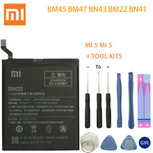 BM45 BM47 BN43 BM22 BN41 Battery For Xiaomi Redmi 3 3S 3X 4 Note 2 4X Original MI 5 Batteries