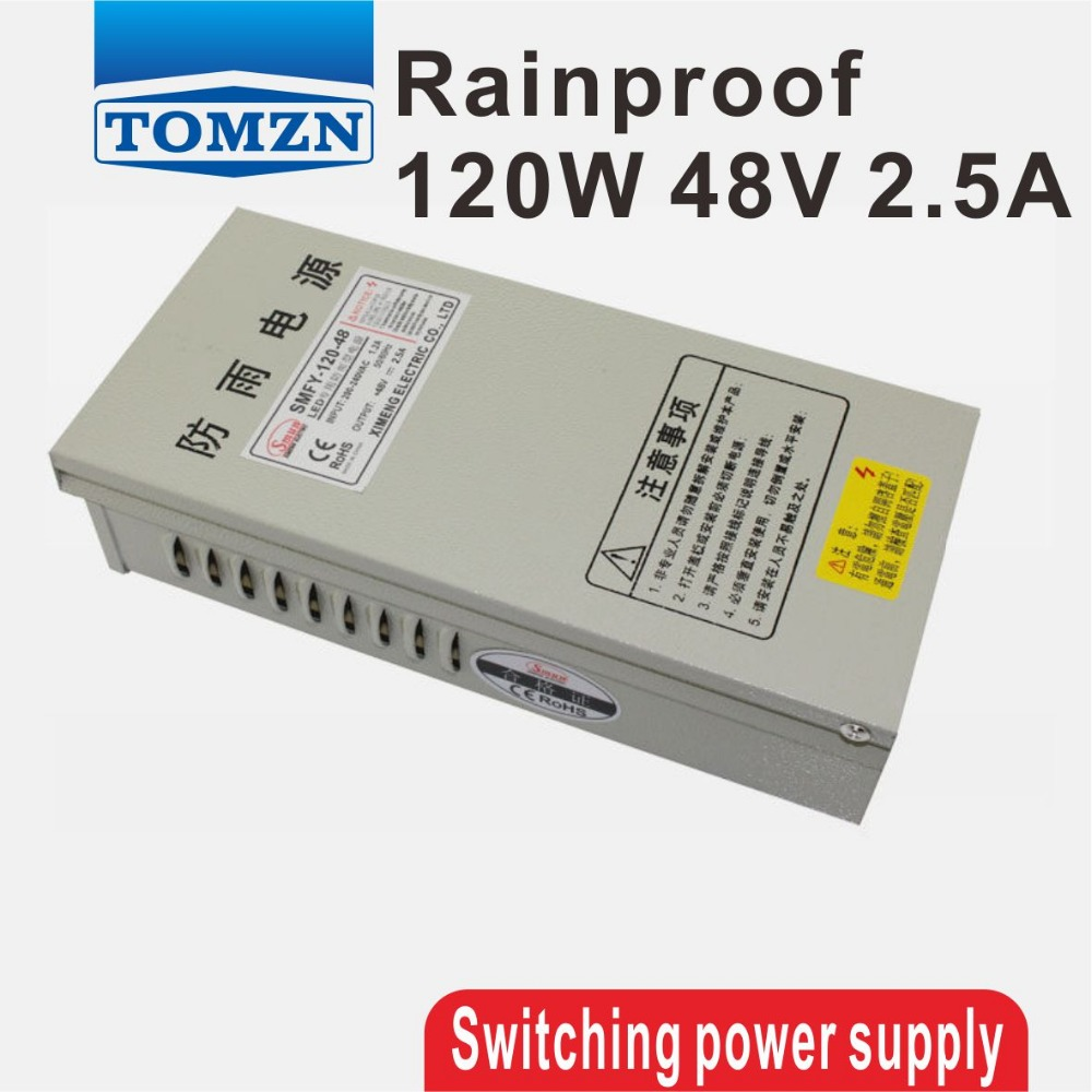 120W 48V 2.5A Rainproof outdoor Single Output Switching power supply smps AC TO DC for LED