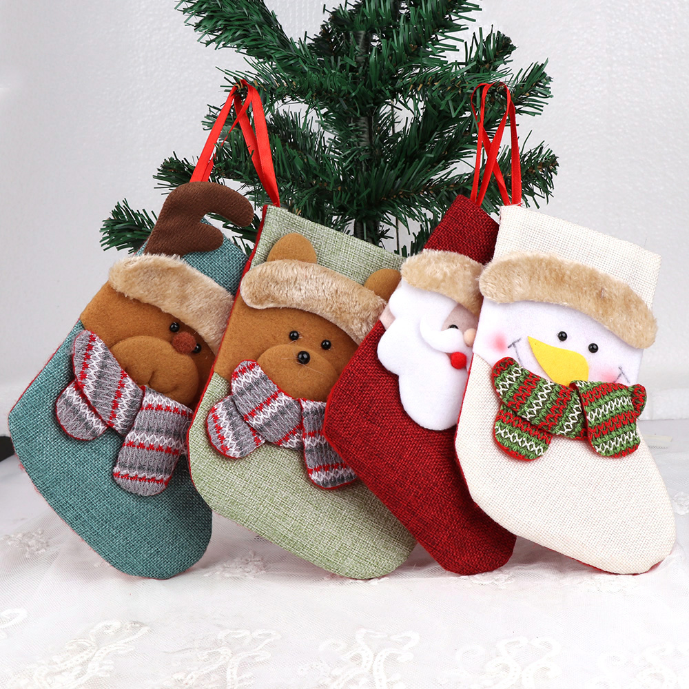 1PC 4Style Christmas Stockings Hanging Christmas Tree ...