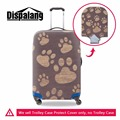 Dispalang unique design footprints luggage protective cover elastic waterproof suitcase cover for 18-30 inch case baggage cover