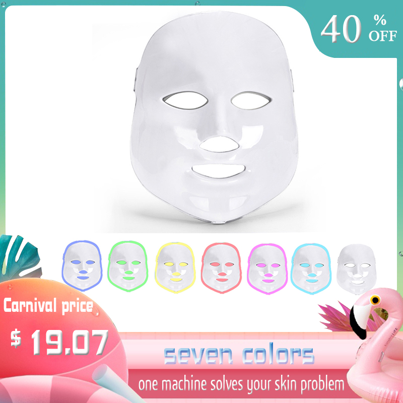 7 Colors Led Facial Mask Beauty Led Mask Photon Therapy Rejuvenation Wrinkle Acne Removal Face Beauty