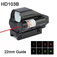 Free Shipping 1x22x33mm red and green dot reflex sight scope built in red laser suit 22mm guide for airgun rifle scope #HD103B