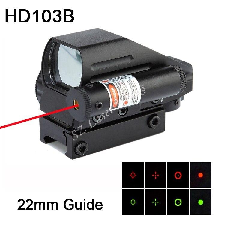 Livraison gratuite 1x22x33mm rouge et vert dot reflex viseur intégré rouge costume laser 22mm guide pour fusil à air comprimé portée # HD103B