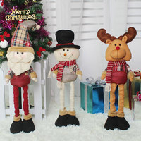 Hot Sale Christmas Dimensional Cartoon Telescopic Christmas Doll Gifts Festival Decor Tools Home Room Ornaments Tree