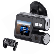 Promo offer MALUOKASA HD Dual Lens Camcorder Car DVR Dash Cam Rear View Camera Motion Detection Night Version Auto-Start Digital Video