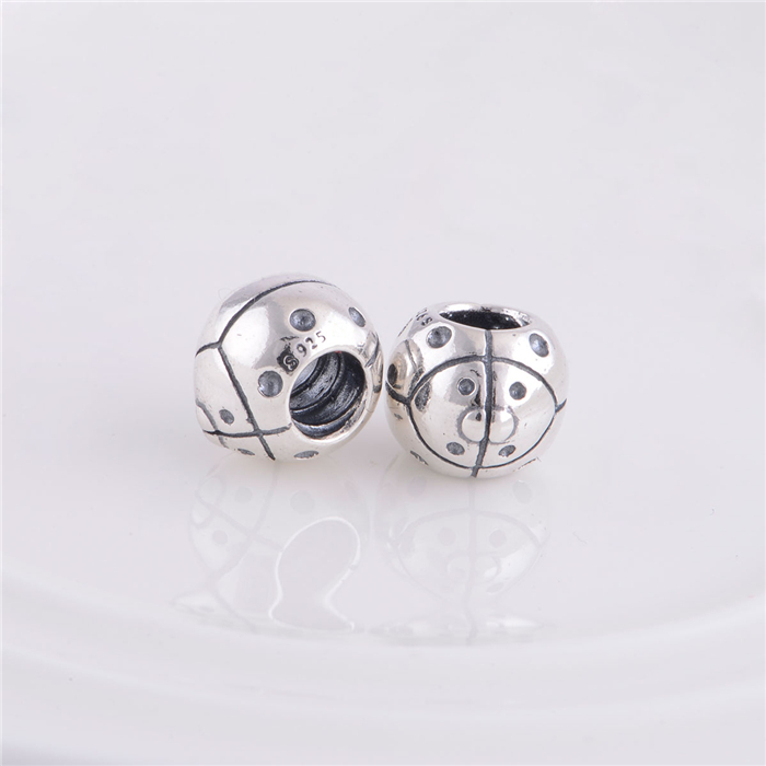 Insect ladybug Beads 925 Sterling Silver Threaded Charms Diy Jewelry Fit Original Pandora Charms Bracelet jewelry