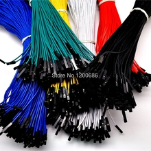 25CM 2.54mm 1pin Female to Female jumper wire Dupont cable 24AWG single 1P DuPont cable wire harness