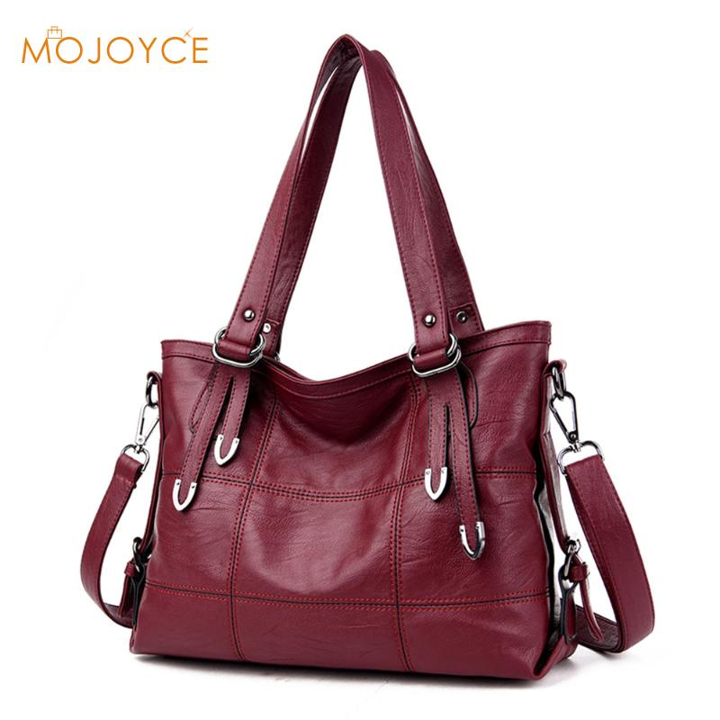 MOJOYCE Large Soft Leather Bag Women Handbags Ladies Crossbody Bags For Women
