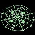 Carnival Halloween Holiday & Halloween Spider Web luminous PVC Home Bar Decoration Sticker 2015 Hot Sale