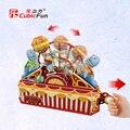 TDX-L1 Para 3d rompecabezas modelo de regalo del festival del niño diy hecho a mano juguete del rompecabezas animal de circo