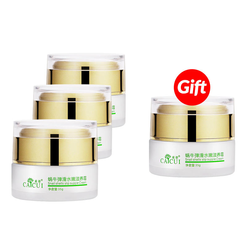 Buy 3 get 1 CAICUI Snail Cream Day cream whitening face cream acne Treatment Moisturizing Anti Wrinkles Anti Aging skin care face care snail gel acne treatment removedor de cravos moisturizing repair whitening anti aging beauty face cream skin care