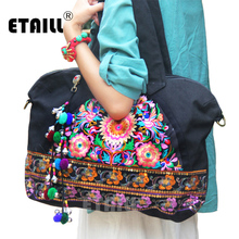 Vintage Ethnic Hmong Handmade Embroidered Bag Women Sequined Famous Brand Shoulder Bags High Quality Sac Femme Bordado Bolsa цена в Москве и Питере