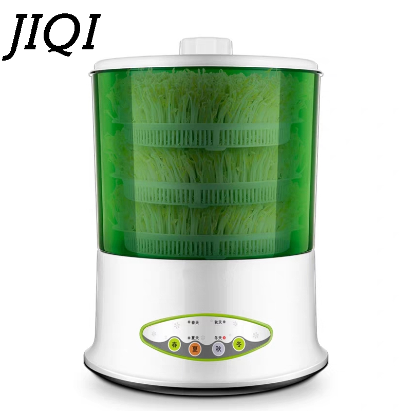 JIQI Electric Sprout Bud Machine Intelligent Thermostat Vegetable Green Seeds Growing Automatic Bean Sprouts Maker 2/3 Layer EU