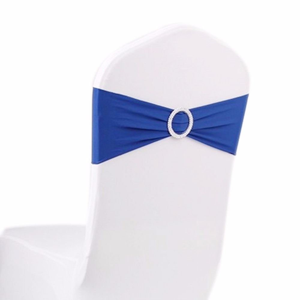 10 Pieces Black Stretch Bulk Chairs Covers Bands With Ring Buckle ...