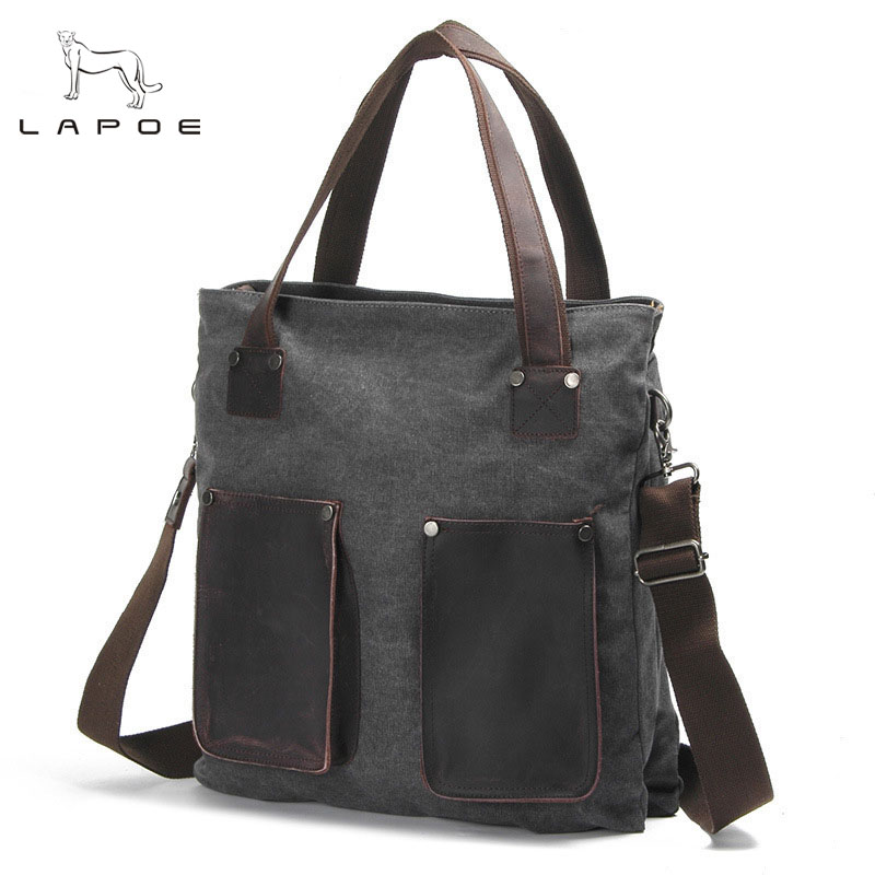 New Men Casual canvas Messenger Bag Men Bag Fashion Male Cross Body Bag Retro Business Shoulder Bag Handbags Men and women japanese pouch small hand carry green canvas heat preservation lunch box bag for men and women shopping mama bag