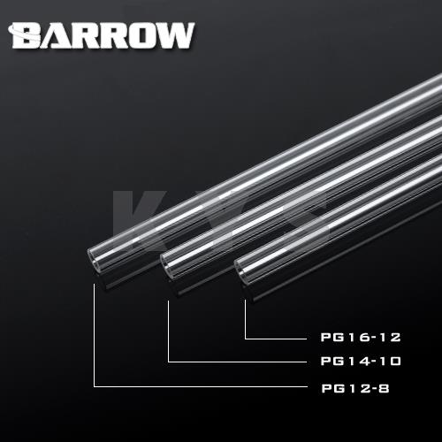 Barrow PETG Water Cooling Rigid Hard Tube 8mm 12mm 8/12mm 50cm 4pcs barrow lqyg v1 hard tube bend tool